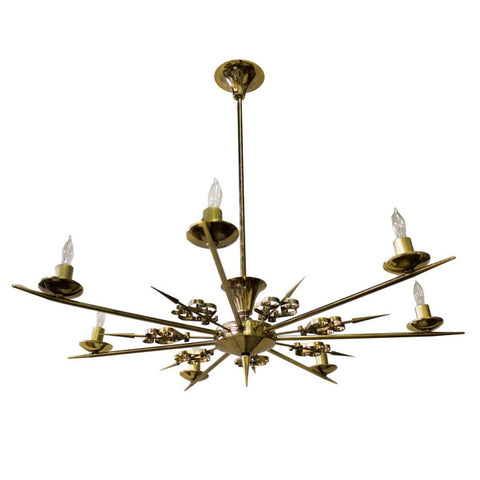 French Brass Soleil Chandelier