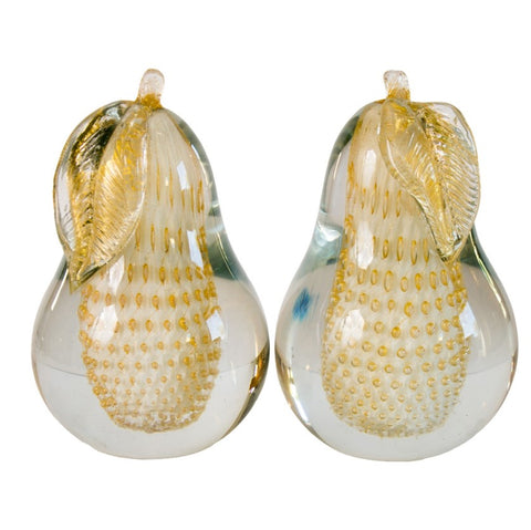 Murano Book Ends in Pear Form attributed to Barovier, circa 1950s