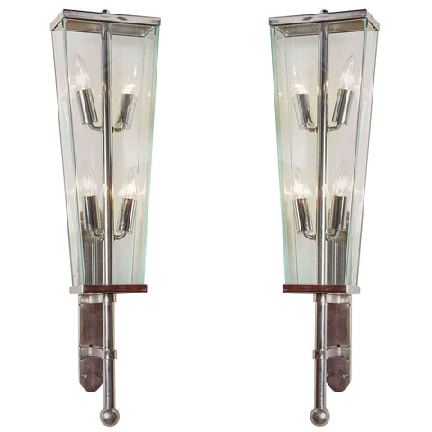 Italian Coach Style Sconces in the Style of Fontana Arte