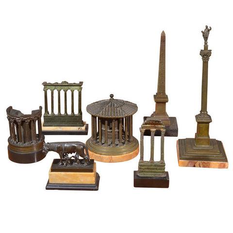 Collection of Italian Grand Tour Bronze Scuptures, 19th Century