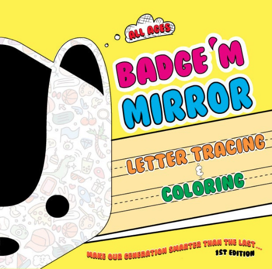 Badge'M Mirror Letter Tracing & Coloring (1st Edition)
