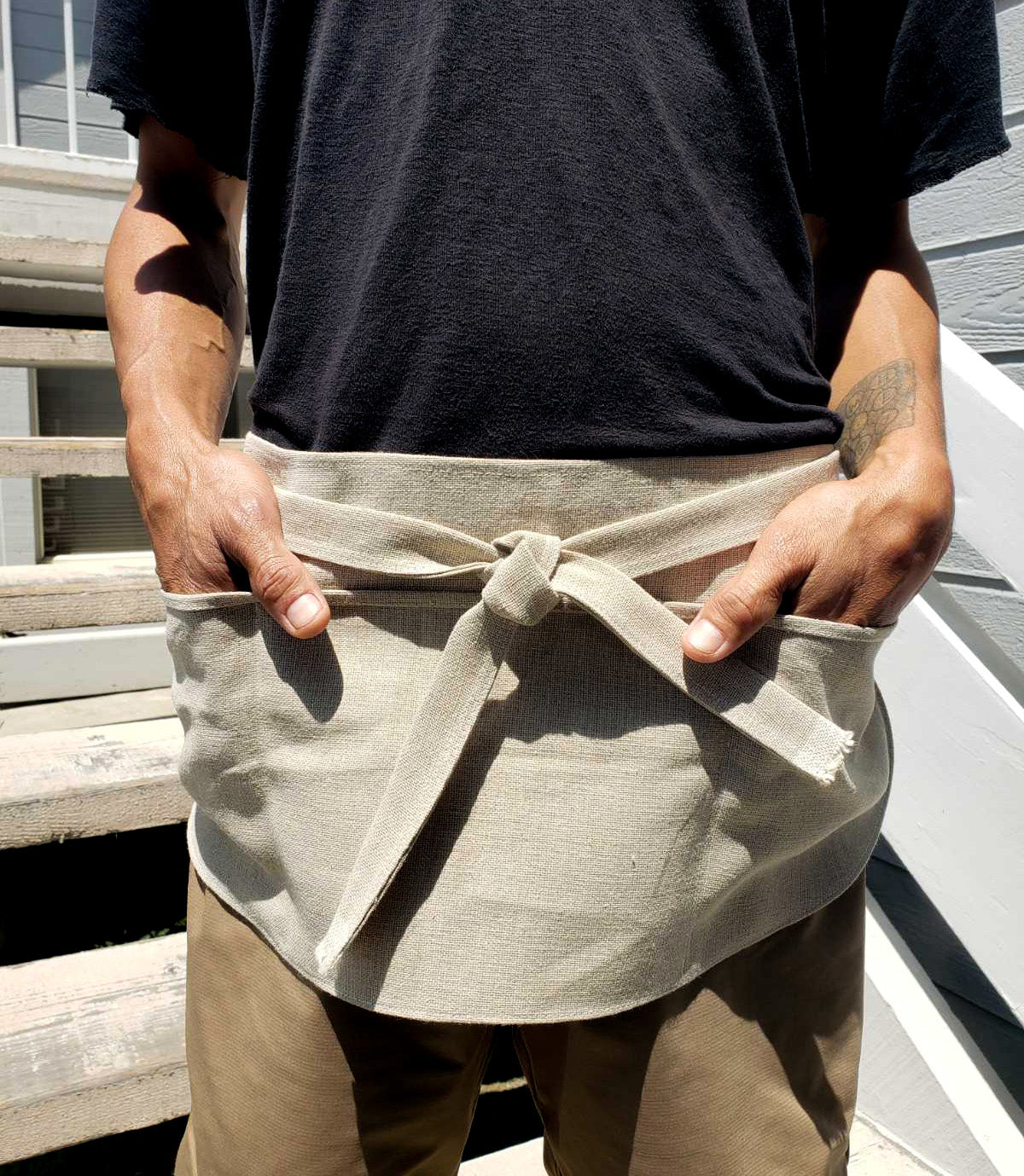 Hemp 3-Pocket Streetwear Apron