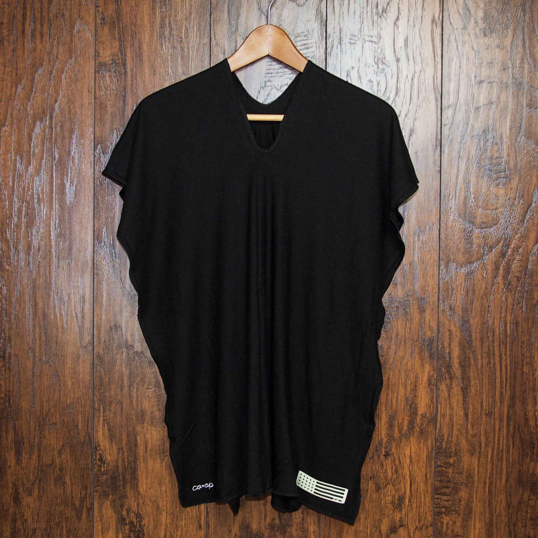 Coop Hemp Poncho - Black