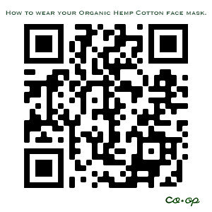 100% Organic Cotton | Hemp | Washable | Reusable | Personal Use Face Mask | Made in USA | Adult