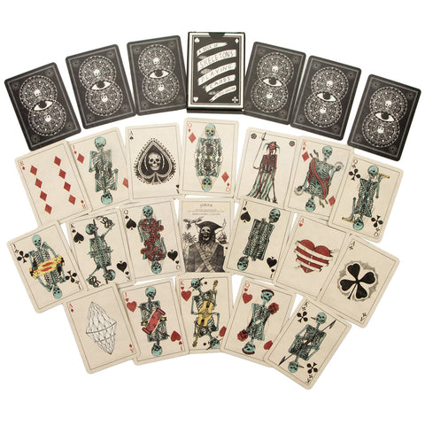 Skeleton Playing Cards - Edition III Gold Edges (ONLY ONE LEFT) by Mike Willcox