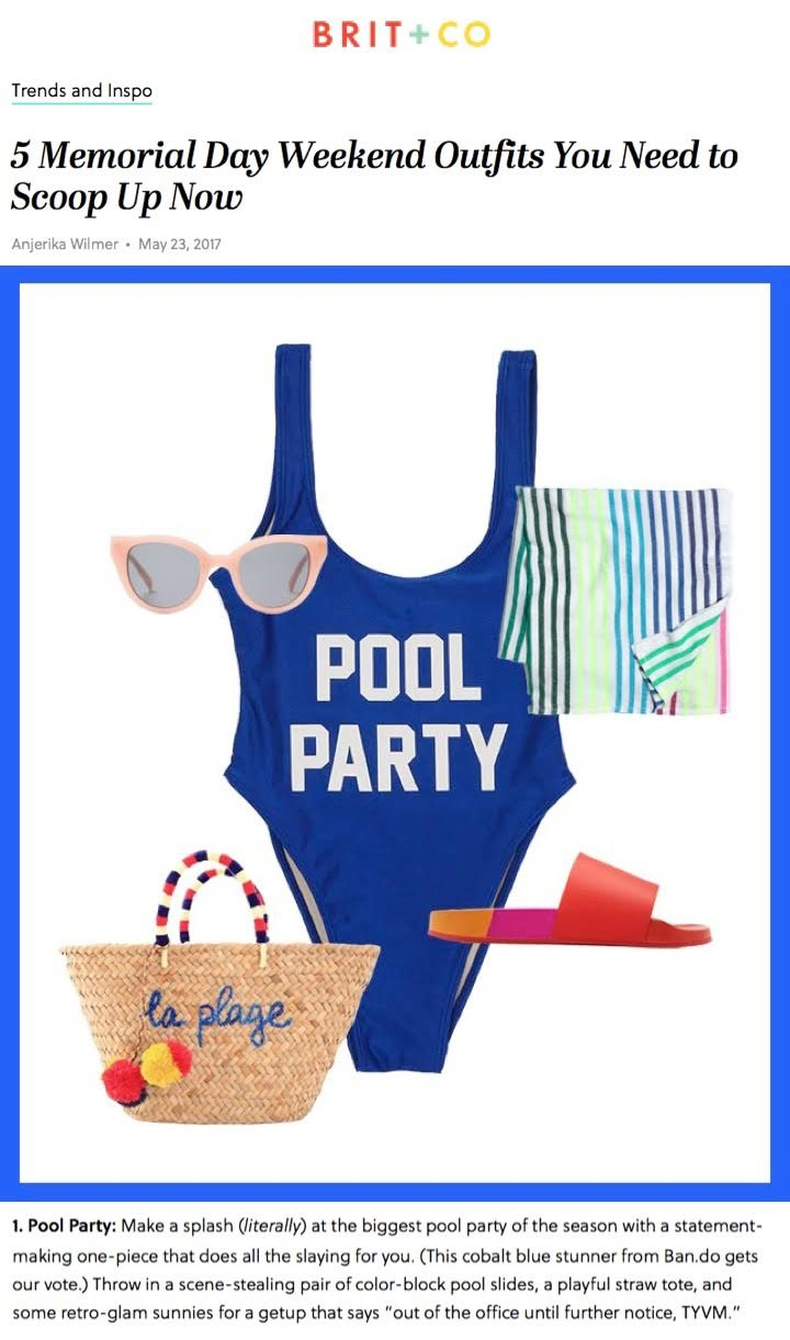Pool party outfit with gloria beach blanket from las bayadas