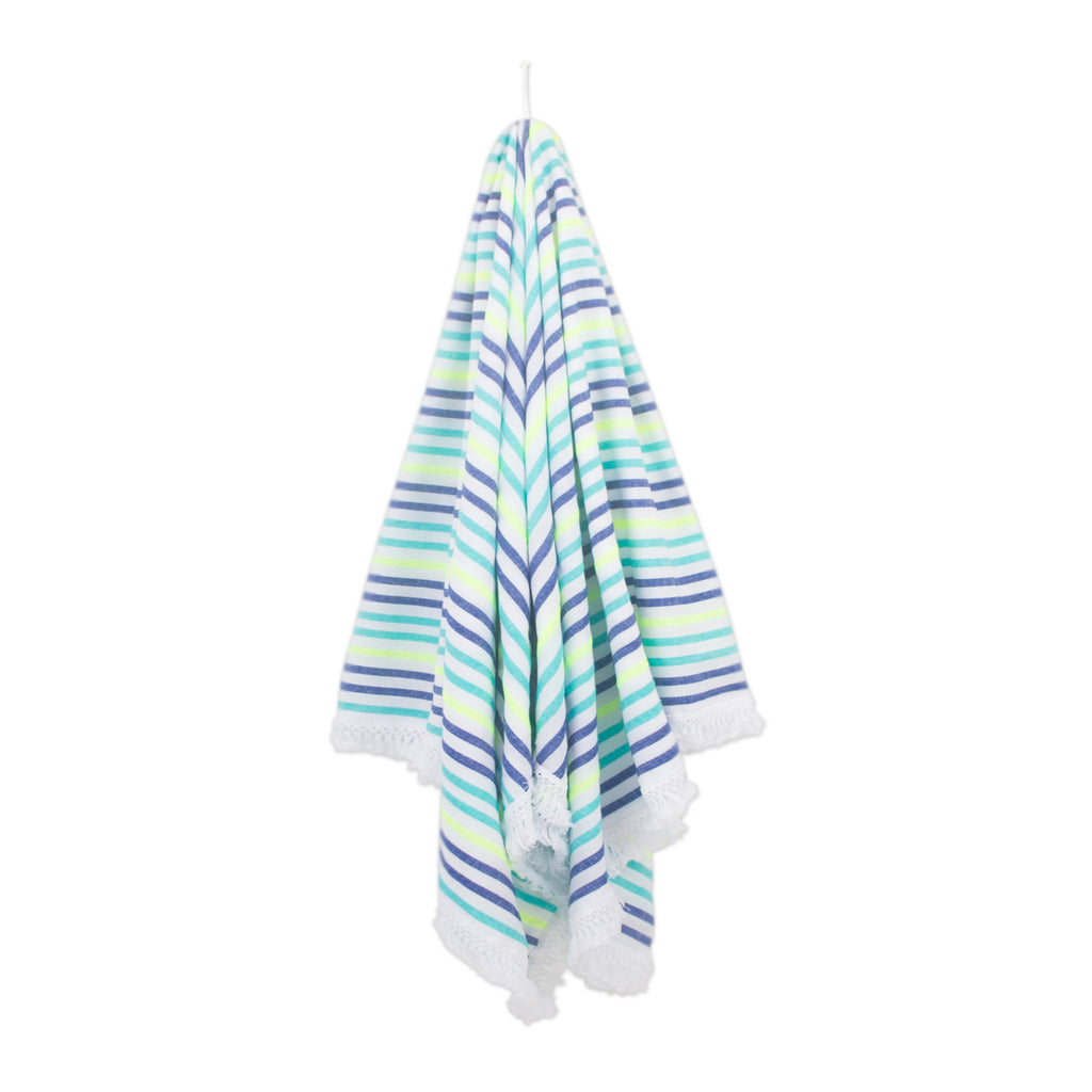 LA MADAI - The Colorful Mexican Beach Blanket With Fringes – Las Bayadas 1f44996ad