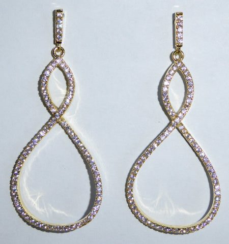 Eternal Teardrop Earrings in Gold