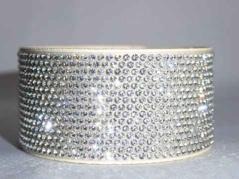 Crystal Bling Band on White
