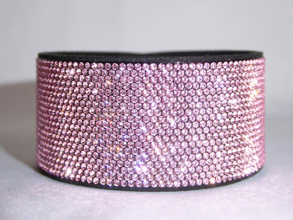 Pink Bling Band with Swarovski Crystals
