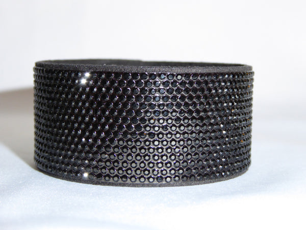 Jet Black Bling Band Swarovski Crystal Bracelet
