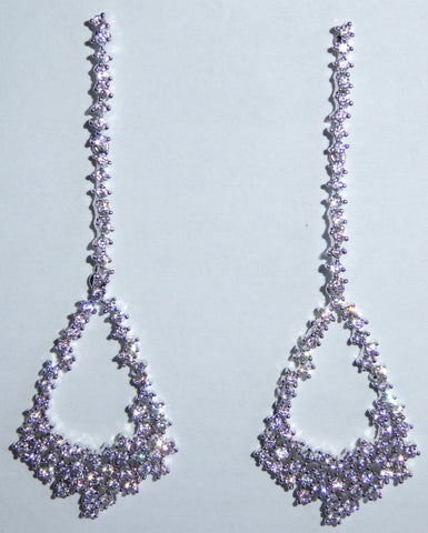 Victorian Royale Teardrop Earrings in Silver