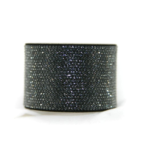 Chrome Bling Band Black Diamond-- Swarovski Crystals