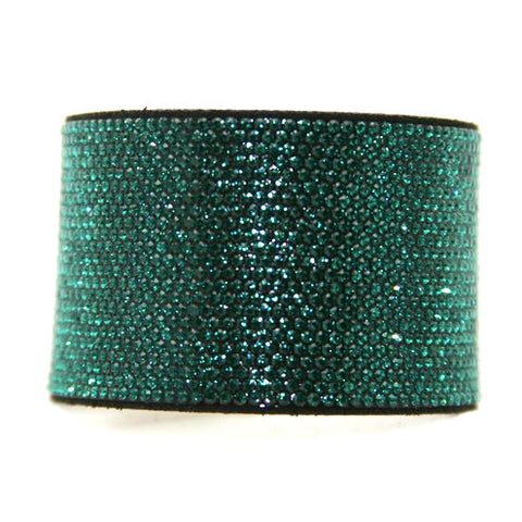 Chrome Bling Band Emerald on Black