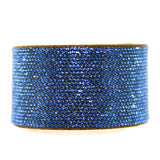 Chrome Bling Band //Micro Crystal Pavee in Sapphire