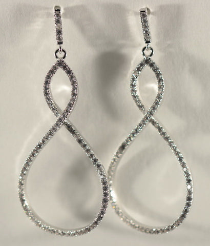 Eternal Teardrop Earrings in Silver