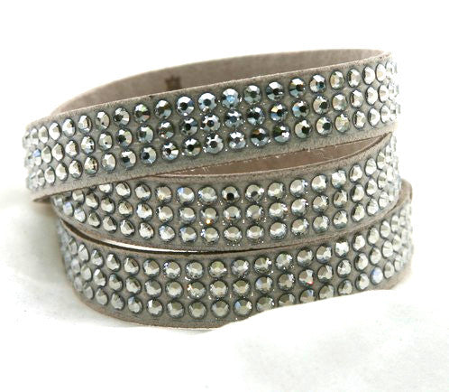 Roadster Wrap Silver Shade with Swarovski Crystals