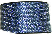 Chrome Bling Band Lt. Sapphire on Black
