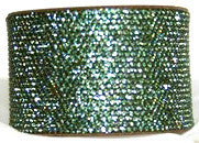 Chrome Bling Band Peridot - Swarovski Crystals