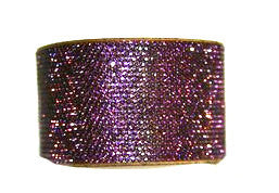 Chrome  Bling Band Swarovski Crystal Amethyst Purple Bracelet