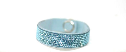 Children Bling Band- Swarovski Micro Crystal Pavee in Aquamarine