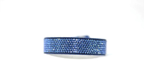Children Bling Band-Swarovski Micro Crystal Pavee in Sapphire