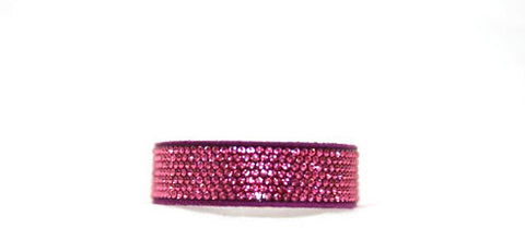 Children Bling Band- Swarovski Micro Crystal Pavee in Fuchsia