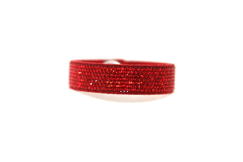 Children Bling Band- Swarovski Micro Crystal Pavee in Red