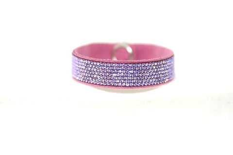 Children Bling Band- Swarovski Crystal Pavee in Lavender