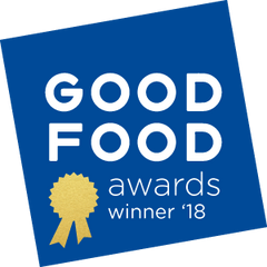 Winner of the GOOD FOOD award 2018