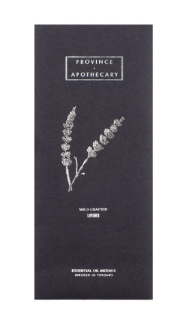 Province Apothecary Lavender Essential Oil Incense - VitaBotanica