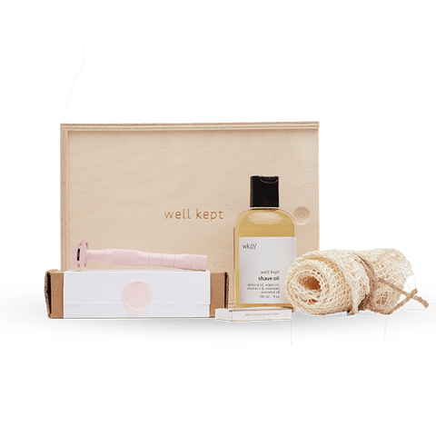 Buy Well Kept Safety Razor Kit - Dusty Rose | VitaBotanica