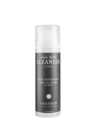 Graydon Aloe Milk Cleanser - dissolves, bonds with and pulls out the dirt, sebum and make-up lodged deep within your pores, leaving your face feeling clean and taut | VitaBotanica - Free shipping $85+