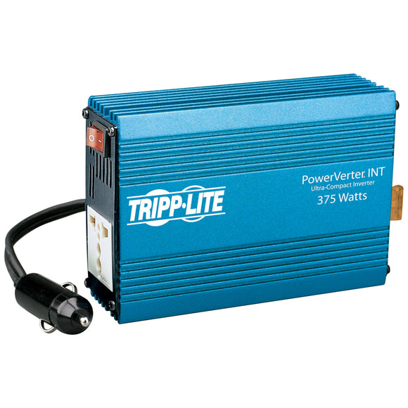 Tripp Lite International Ultra-Compact Car Inverter 375W 12V DC to 230V AC 1 Universal Outlet