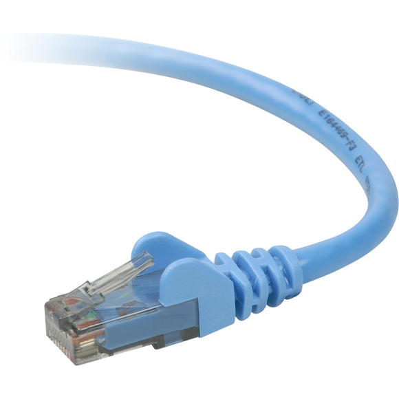 Belkin Components 2ft Cat6 Snagless Patch Cable, Utp, Blue Pvc Jacket, 23awg, 50 Micron, Gold Plat