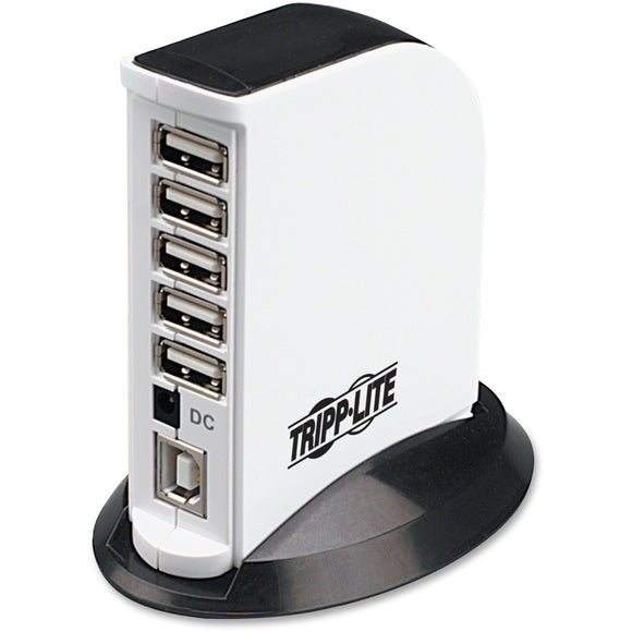 Tripp Lite 7-Port USB 2.0 Hi-Speed Hub Compact Desktop Mobile Tower