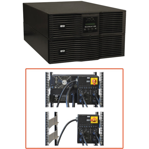 Tripp Lite UPS Smart Online 10000VA 9000W Rackmount 10kVA 200-240V USB DB9 Manual Bypass Switch Hot Swap 6URM