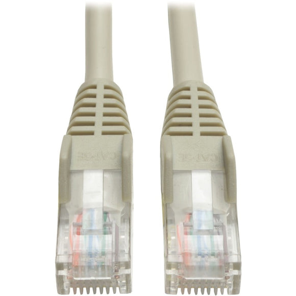 Tripp Lite 200ft Cat5e Cat5 Snagless Molded Patch Cable RJ45 M-M Gray 200'