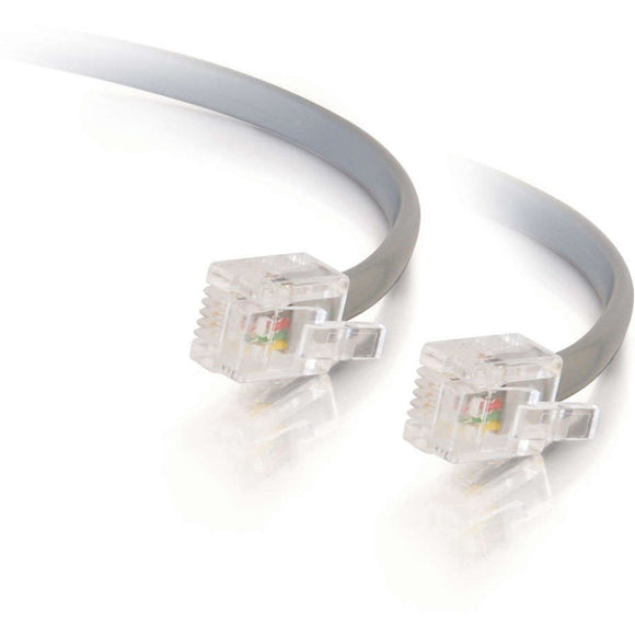 C2G 14ft RJ11 Modular Telephone Cable
