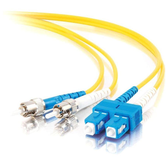 C2G-2m SC-ST 9-125 OS1 Duplex Singlemode PVC Fiber Optic Cable - Yellow
