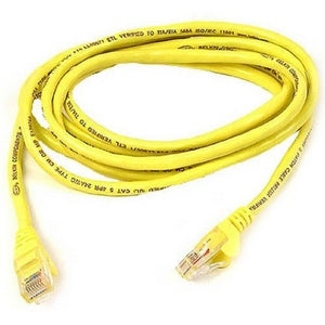 Belkin Components 100ft Cat6 Snagless Patch Cable, Utp, Yellow Pvc Jacket, 23awg, 50 Micron, Gold
