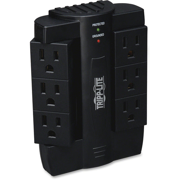 Tripp Lite Surge Protector Swivel 6 Outlet Wallmount Direct Plug In 120V BK