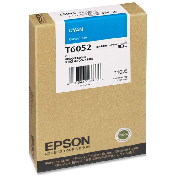 Epson Print Ultrachrome K3 Inks For Epson Stylus Pro 4800 And 4880  -  Cyan 110ml