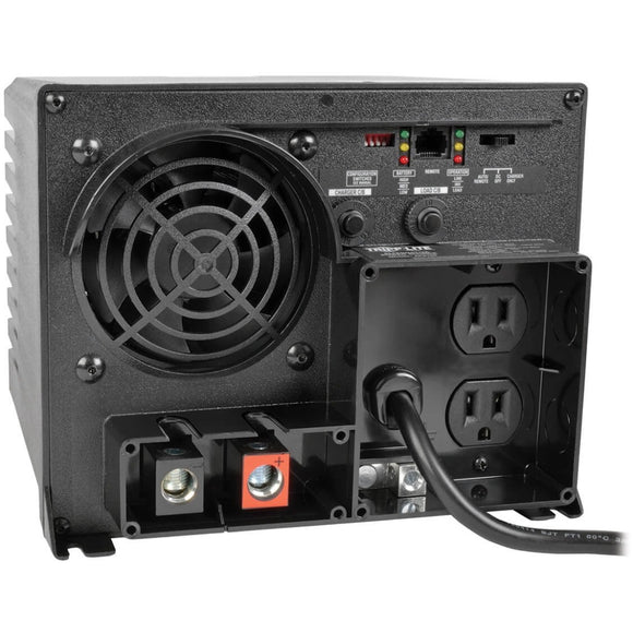 Tripp Lite 1250W APS 12VDC 120V Inverter - Charger w- Auto Transfer Switching ATS 2 Outlets 5-15R