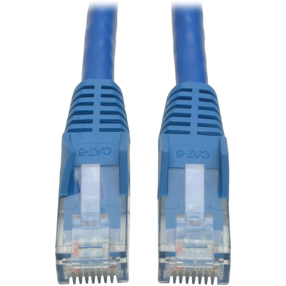 Tripp Lite 2ft Cat6 Gigabit Snagless Molded Patch Cable RJ45 M-M Blue 2'