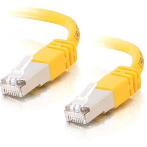 C2G-3ft Cat5e Molded Shielded (STP) Network Patch Cable - Yellow