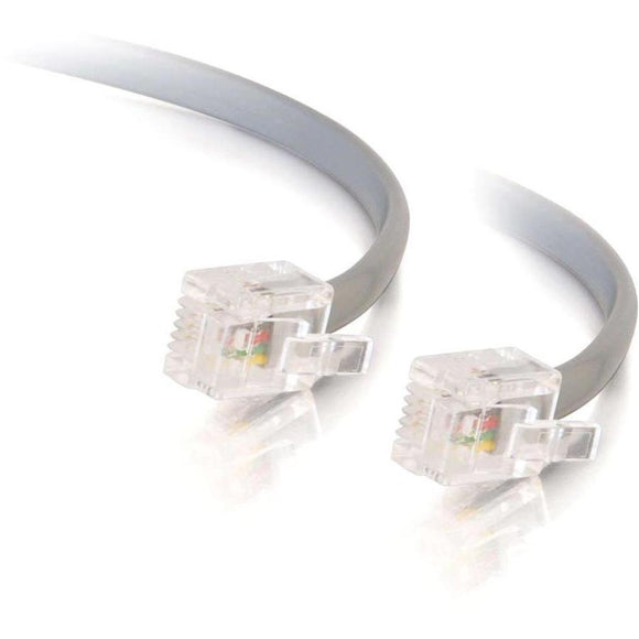 C2G 50ft RJ12 Modular Telephone Cable
