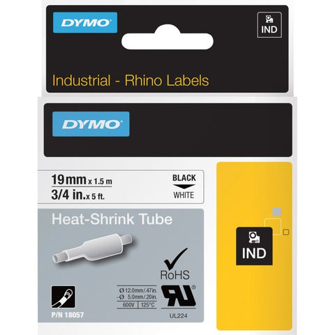 Dymo Rhino 3-4 White Heat Shrink Tubes