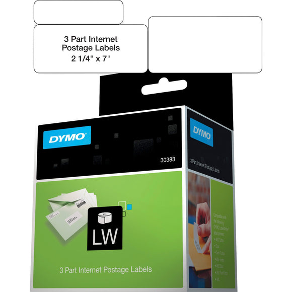 Dymo 3-part Return Address PC Postage Labels