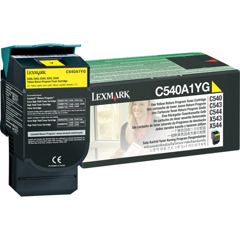 (lexmark C540a1yg) C540a1yg Yellow Return Program Toner,1,000 Standard Yield Col